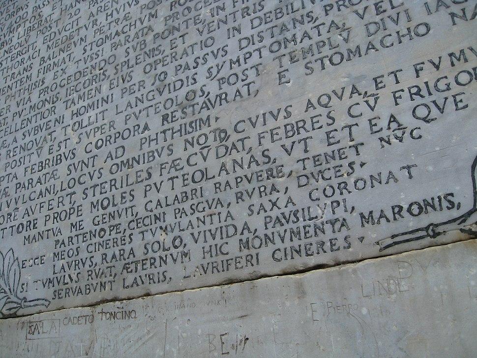 Vergil tomb inscription