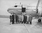 Vertrek delegatie Rotterdams gemeentebestuur naar Bazel, Bestanddeelnr 909-9282.jpg