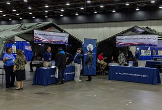 Michigan Veterans Affairs Agency - The Michigan Veterans Resource Service Center (MVRSC) connecting with veterans at a Veteran Expo