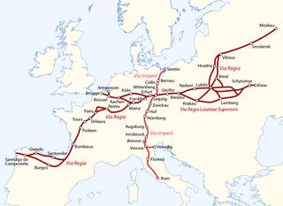 Via Regia medieval road in the Holy Roman Empire