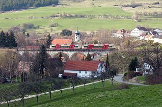 Hohenzollerische Landesbahn - Regio-Shuttle on the Lautlingen viaduct