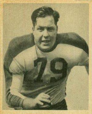 Vic Sears - Sears on a 1948 Bowman football card