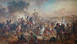 Victor Meirelles - 'Battle of Guararapes', 1879, oil on canvas, Museu Nacional de Belas Artes, Rio de Janeiro.JPG