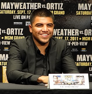 Victor Ortiz American boxer