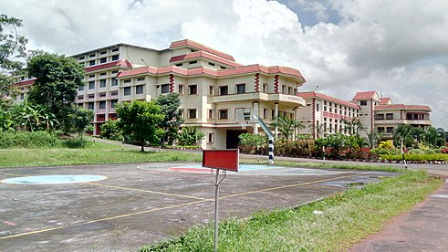 Side view of college