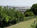 View down to the barrage from Penarth - geograph.org.uk - 1377257.jpg