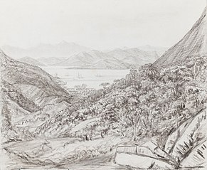 View from Drawing window at 'The Spot' - May 5th 1854