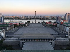 View of Kim Il-sung Square from Grand People's Study House.jpg
