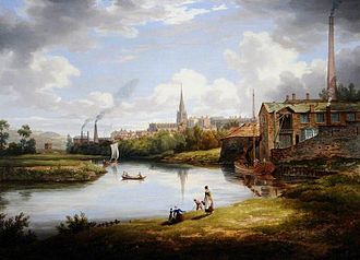 William Cowen - A View of Rotherham by Cowen