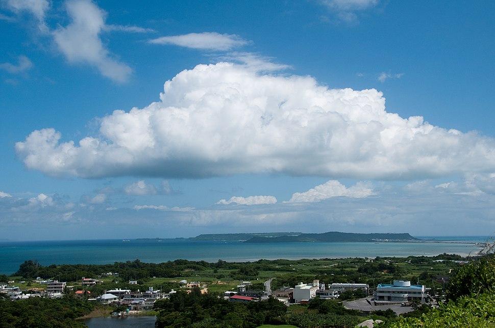 View of Yokatsu Islands from Katsuren Castle