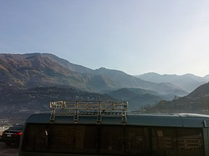 Pearl-Continental Hotels & Resorts - Image: View of mountains from the backside of hotel (Pearl Continental) in Muzafarrabad