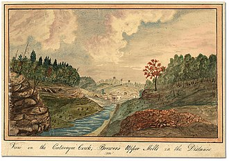 Cataraqui River - Image: View on the Cataraqui Creek, Brewer's Upper Mills in the background, 1830