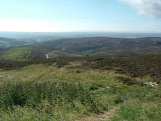 Cairn O' Mounth - The view south to the Mearns from Cairn O'Mounth in summer