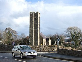 Village church on busy road - geograph.org.uk - 280635.jpg