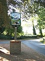 Village sign at junction of Fox Road and The Street - geograph.org.uk - 1501395.jpg