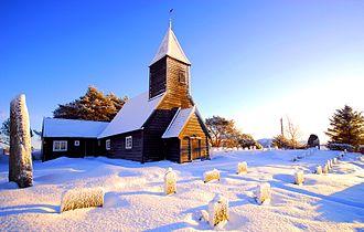 Askvoll - View of Vilnes Church