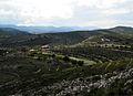 Vista cap a la Vall d'Alcalà des de la serra de la Foradada.JPG