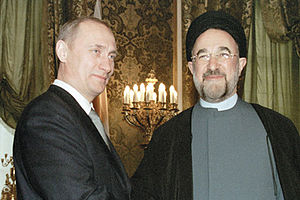 Presidency of Mohammad Khatami - Vladimir Putin, president of Russia meeting Khatami in Sa'd Abad Palace.