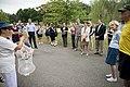 Volunteers with Monarch Teacher Network release butterflies in Arlington National Cemetery (28841210566).jpg