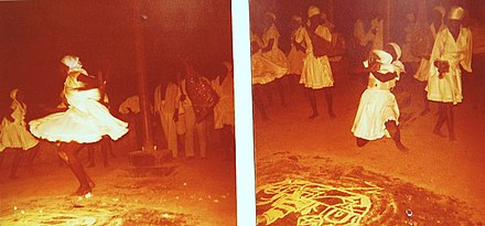 Dancing as part of a Vodou ceremony in Port au Prince in 1976 Voodoo 2 (2).jpg