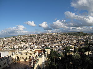 View of the medina (old city) of Fez