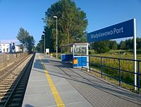 Władysławowo Port train station.jpg