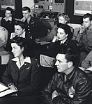 WASPs in classroom, Romulus Army Airfield, Michigan, 1944.JPG