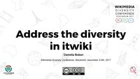 Address the diversity in itwiki (proposal), Stoccolma, 1 novembre 2017