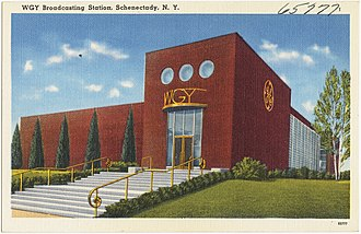 WGY (AM) - The studio building as it appeared circa 1938-1945.