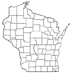 Location of Lake Shangrila, Wisconsin