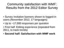 WMF metrics meeting 2013-09-05 - editor survey WMF satisfaction.pdf