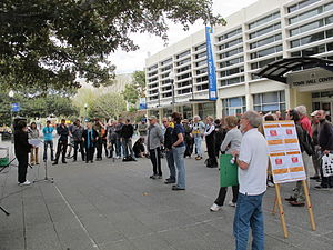 Kings Square, Fremantle - A rally at Kings Square