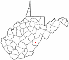 Location of Marlinton, West Virginia