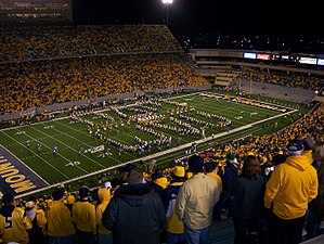 Mountaineer Field at Milan Puskar Stadium - Image: WVU Opening Game Mountaineer Field