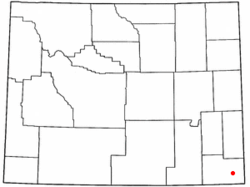 Location of Burns, Wyoming