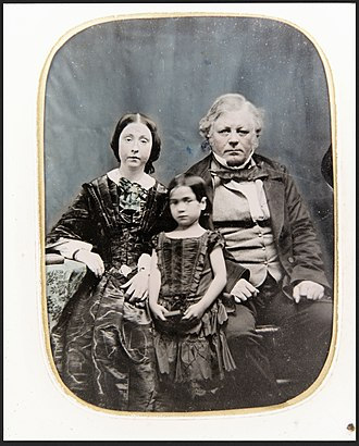 William Barnard Rhodes - Rhodes, his first wife Sarah King, and their adopted daughter Mary Ann.