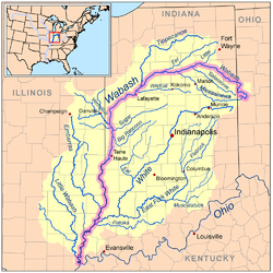 Map Of Ohio Rivers And Cities.Wabash River Wikipedia