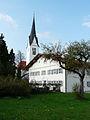 Wald, OAL - Pfarrhof m Kirche.JPG