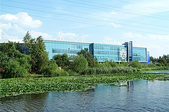 King Power Stadium - The King Power Stadium from the River Soar