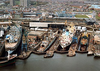 Wallsend - Wallsend ship repair dry docks, 1987
