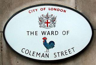Coleman Street Ward Human settlement in England