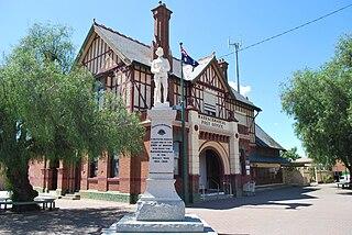 Warracknabeal Town in Victoria, Australia