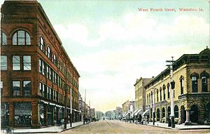 Waterloo, Iowa - West Fourth Street, 1910