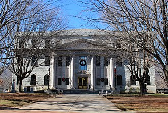 Haywood County, North Carolina - Image: Waynesville, North Carolina Haywood County Courthouse