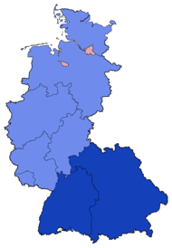 West German Federal Election - Party list vote results by state - 1983.png