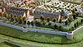 Westelijke walmuur nabij kat Brandenburg met Jekermanège en barakken, detail kopie Maquette van Maastricht, collectie Centre Céramique.jpg