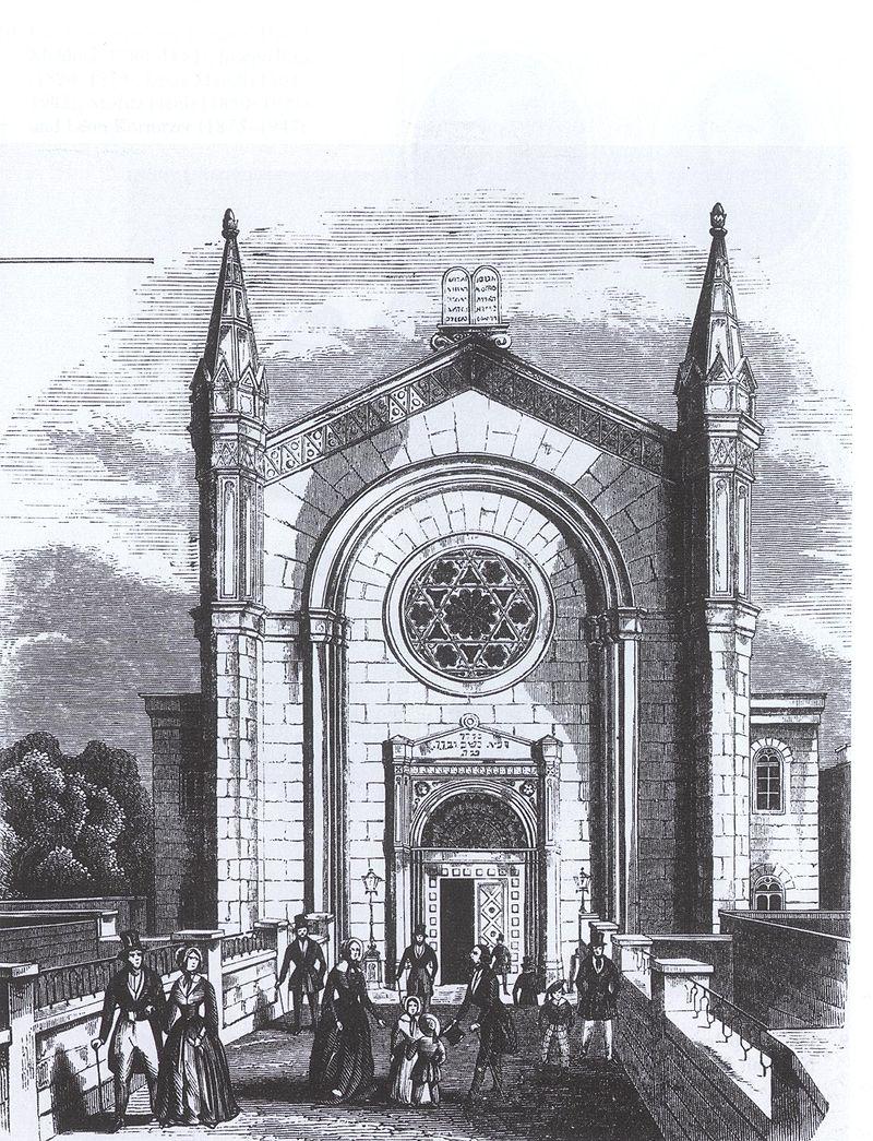 Neuer Tempel in der Poolstraße 1844, Hamburg. Bild: wikimedia.org/PD