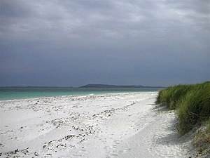 White - Image: White sand on Berneray geograph.org.uk 684958