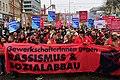 Wien - 2018-01-13 - Großdemo gegen Schwarz-Blau - 04 - GewerkschafterInnen gegen Rassismus und Sozialabbau.jpg