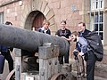 Wikimedia UK visit to regimental museum in Monmouth.JPG